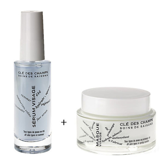 Summer hydrating duo : Serum + Mask - Clé des champs