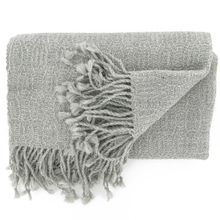 Belen grey Alpaca stole - Andes Made