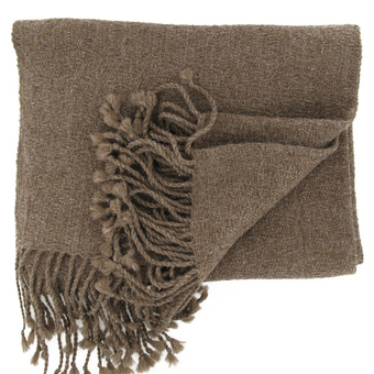 Belen brown Alpaca stole - Andes Made