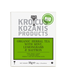 Herbal tea with Mint, Lemongrass & Greek Saffron  - Krocus Kozanis