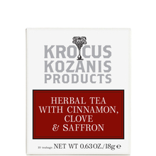 Herbal tea with Cinnamon, Clove & Greek Saffron  - Krocus Kozanis