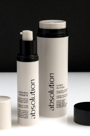 Absolution natural and organic certified firming body care products