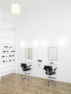 Less is More ecological luxury hair salon in Vienna