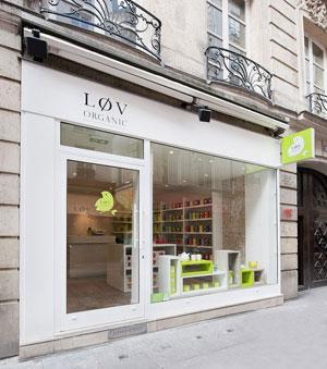 Boutique de thé bio Lov organic à Paris