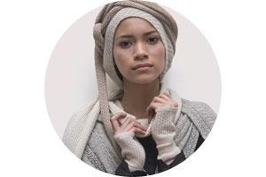 Fair trade luxury alpaga winter fashion accessories