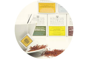 Krocus Kozanis natural herbal teas with organic red saffron