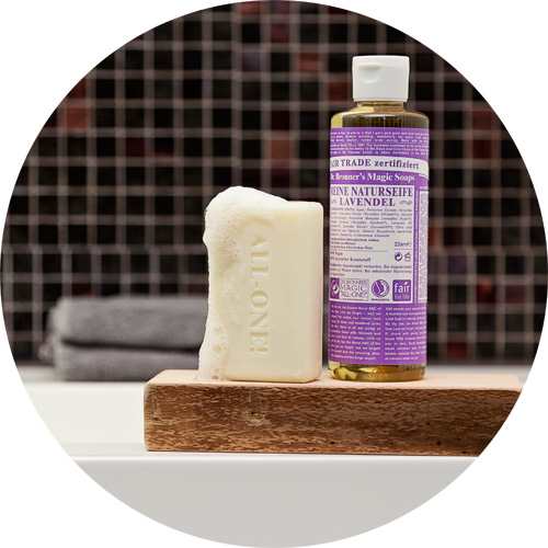 Buy Dr Bronner's natural pure-castile soaps and organic body care