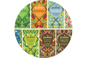 Pukka organic ayurvedic herbal tea and fairtrade tea